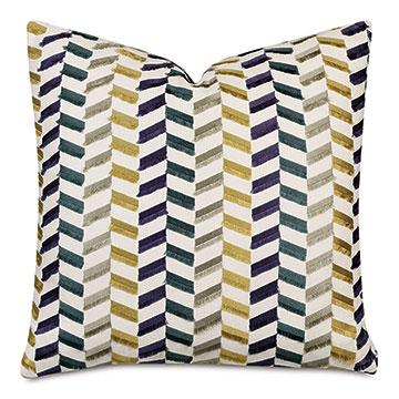 Sassy Broken Chevron Decorative Pillow