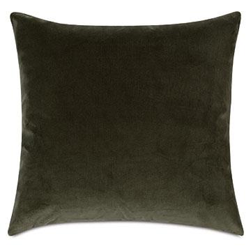 Uma Velvet Decorative Pillow In Olive