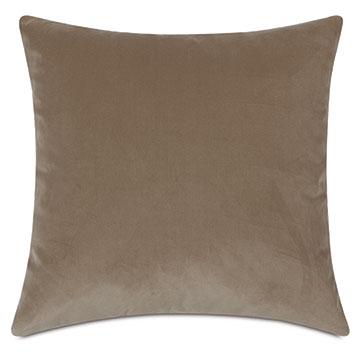 Uma Velvet Decorative Pillow In Khaki