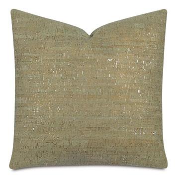 Ilex Cork Decorative Pillow In Green