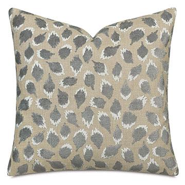 Ocelot Decorative Pillow In Silver