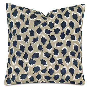 Ocelot Decorative Pillow In Navy