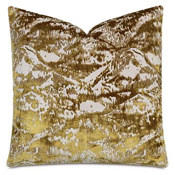 Brioche Decorative Pillow In Mustard