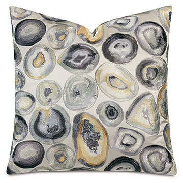 Opal Decorative Pillow In Gray