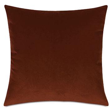 Uma Velvet Decorative Pillow In Orange