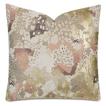 Chalamet Metallic Decorative Pillow in Honey