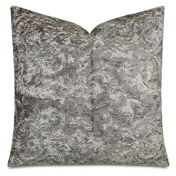 Byzantine Velvet Decorative Pillow In Slate