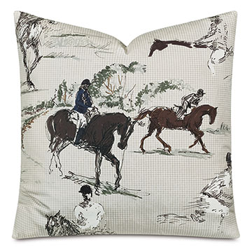 Russell Equestrian Decorative Pillow