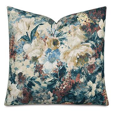 Herald Floral Decorative Pillow