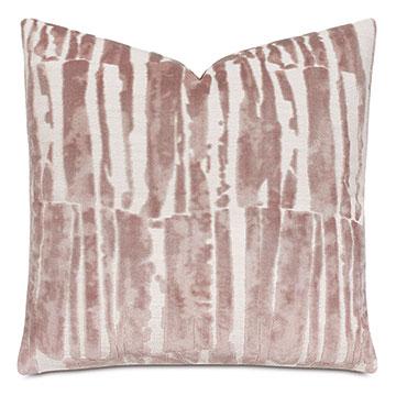 Rivia Velvet Decorative Pillow In Primrose
