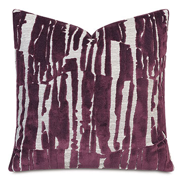 Rivia Velvet Decorative Pillow in Wildberry