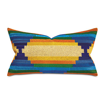 Oates Metallic Embroidery Decorative Pillow