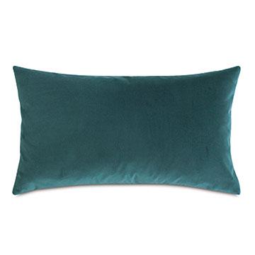 Uma Velvet Decorative Pillow In Teal