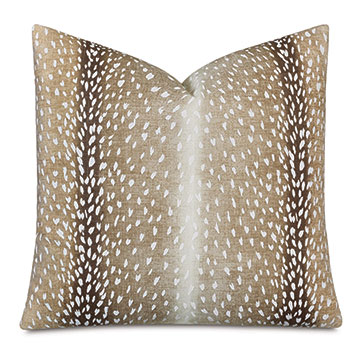 Wiley Ombre Decorative Pillow in Cappuccino