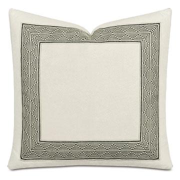 Valmont Geometric Border Decorative Pillow