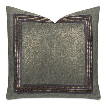 Leonis Stitch Border Decorative Pillow