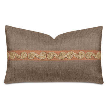 Salazar Jute Twist Decorative Pillow in Mocha