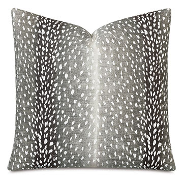 Wiley Ombre Decorative Pillow in Iron