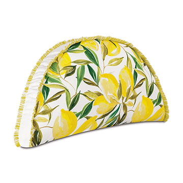 Meyer Lemon Wedge Decorative Pillow