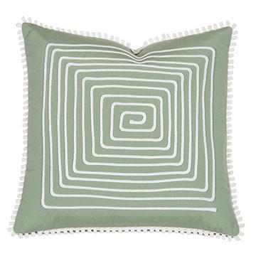 Ibis Loop Trim Decorative Pillow