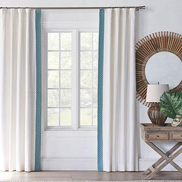 Baldwin White Curtain Panel Left