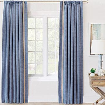 Paloma Woven Curtain Panel Left
