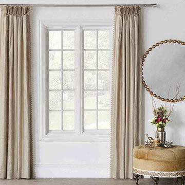 Marceau Ball Trim Curtain Panel