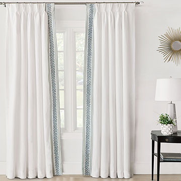 Amberlynn Velvet Leaf Curtain Panel (Left)