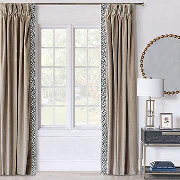 Maddox Velvet Curtain Panel Right