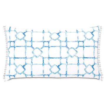 Castaway Lattice Decorative Pillow