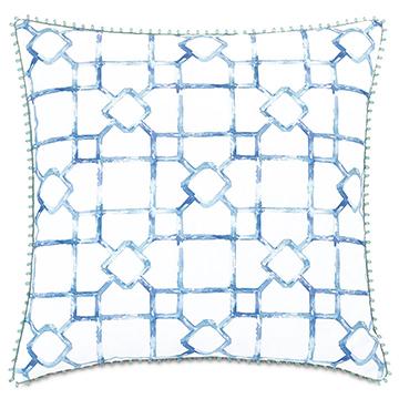 Castaway Loop Trim Decorative Pillow