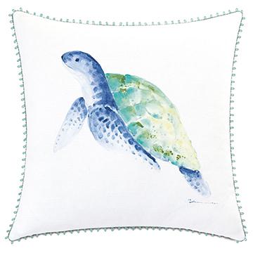 Castaway Turtle Decorative Pillow