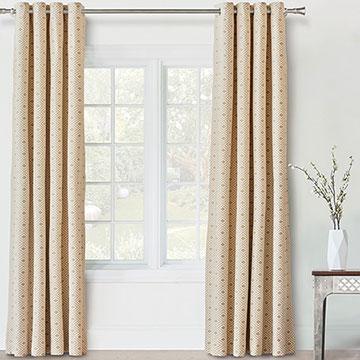 Cyrus Straw Curtain Panel