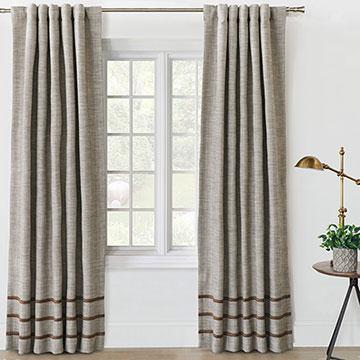 Steeplechaser Textured Curtain Panel