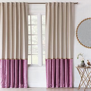 Valentina Color Block Curtain Panel