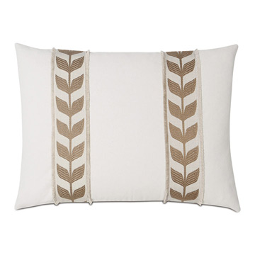Akela Leaf Decorative Pillow In Gold