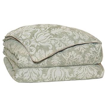 Lourde Celadon Duvet Cover and Comforter