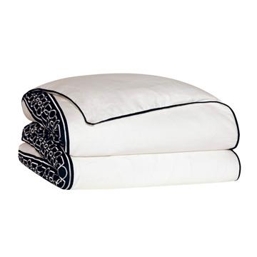 Baldwin White Duvet Cover and Comforter