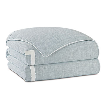 Amberlynn Mitered Picot Duvet Cover and Comforter