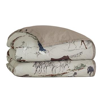 Steeplechaser Equestrian Duvet Cover