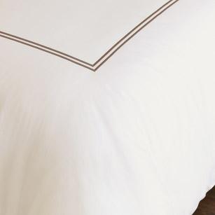 Enzo Ivory/Brown Duvet Cover