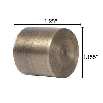 Metallo Brushed Brass Flush End Cap Pair