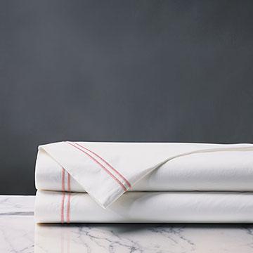 Enzo Satin Stitch Flat Sheet In Bloom