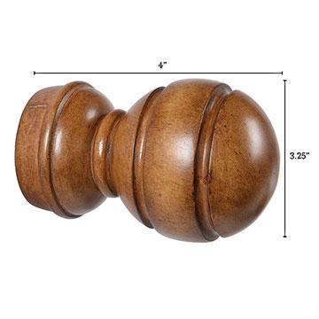 Legna Maple Sphere Finial Pair