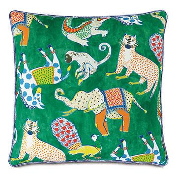 Hullabaloo Checkered Cord Decorative Pillow