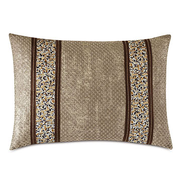 Indochine Metallic Stripe Decorative Pillow
