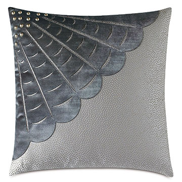 Indochine Velvet Applique Decorative Pillow