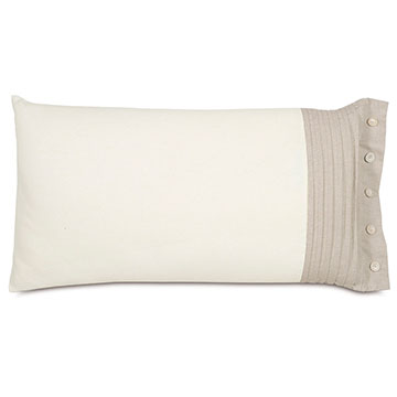 Maritime Pleated Right King Sham In Ivory