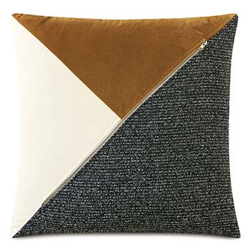 Medara Color Block Decorative Pillow
