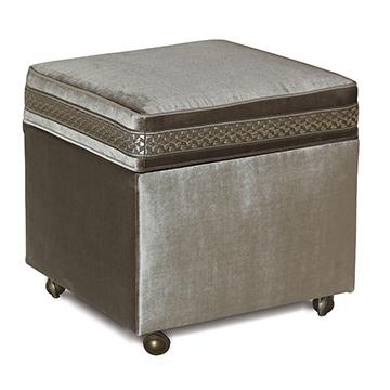 Velda Smoke Storage Boxed Ottoman